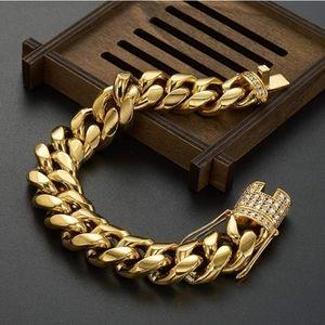 Other - MEN's bracelet Miami cuban link 18k gold plated